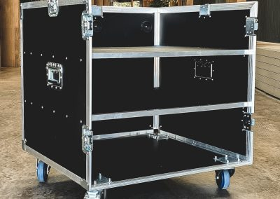 Mobile Audio Mixing and Lighting Control Desk